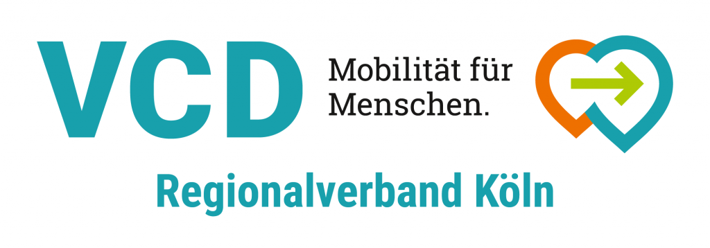 Logo des VCD (Verkehrsclub Deutschland), Regionalverband Köln. Motto: Mobilität für Menschen