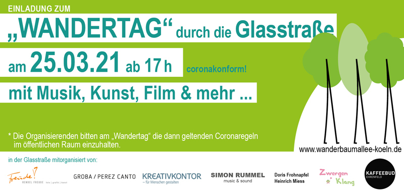 """Flyer zum """"Wandertag"""" durch die Glasstraße"""